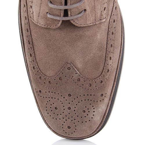 Спортивные туфли Samsonite из натуральной замши цвета кофе с молоком, фото