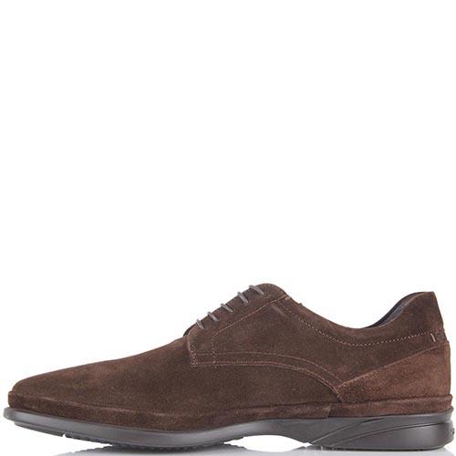 Демисезонные туфли Samsonite кофейного цвета из натуральной замши, фото