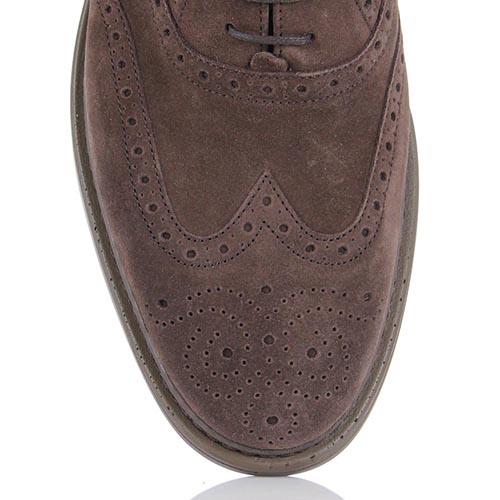 Мужские броги Samsonite коричневого цвета замшевые, фото