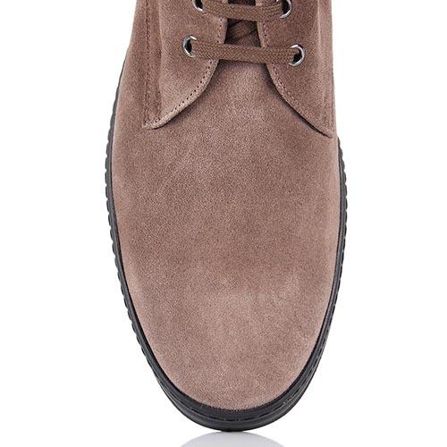 Мужские демисезонные ботинки Samsonite бежевого цвета на высокой подошве, фото