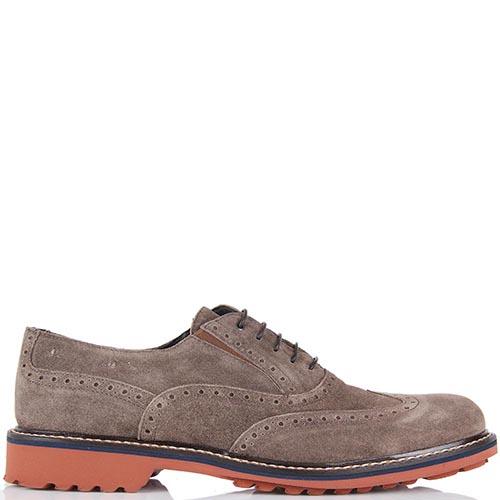 Туфли-броги Samsonite замшевые серо-коричневые, фото