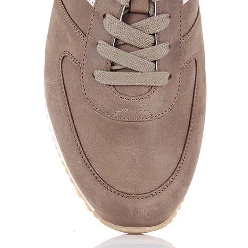 Кожаные кроссовки Samsonite светло-коричневого цвета из кожи и текстиля, фото