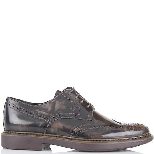 Туфли-броги Samsonite коричневые с неоднородной окраской, фото