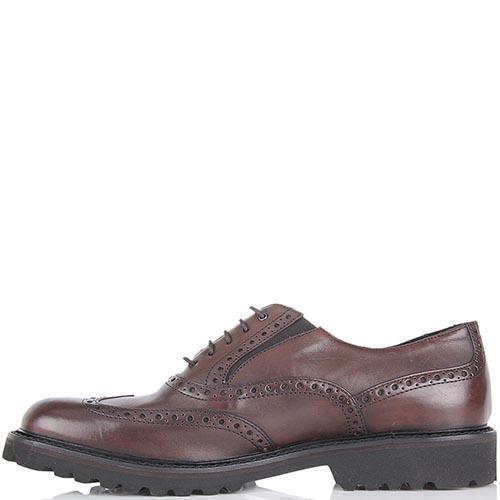Туфли-броги Samsonite из кожи коричневого цвета, фото