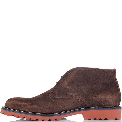 Мужские ботинки Samsonite из коричневой замши с рыжей подошвой, фото