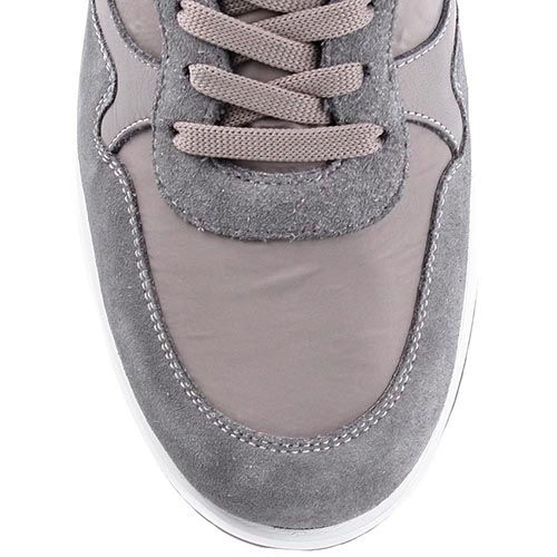 Кроссовки Bikkembergs из кожи и текстиля со вставками из замши светло-серого цвета, фото