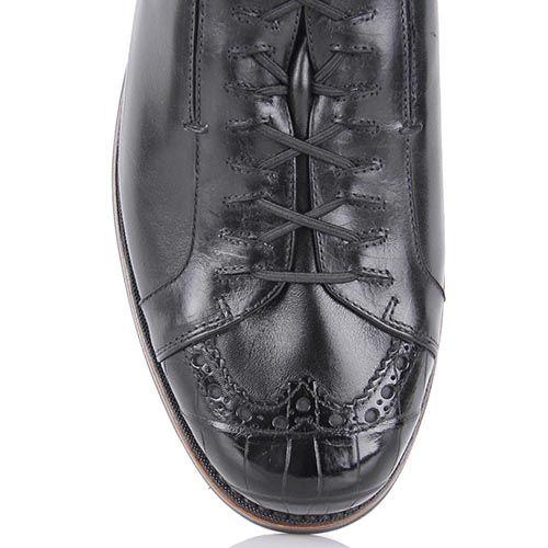 Мужские туфли Pakerson черного цвета на толстой подошве, фото