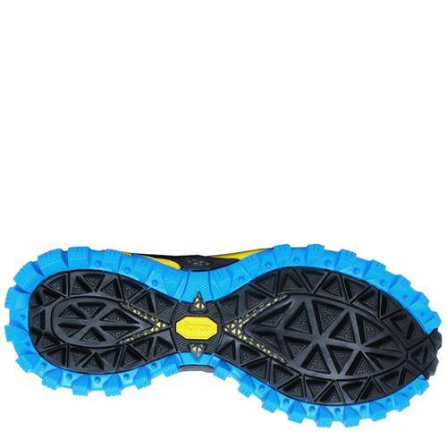 Беговые кроссовки Saucony XODUS 4,0 серые с голубым и желтым, фото