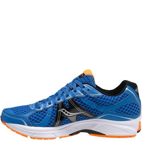 Беговые мужские кроссовки Saucony ProGrid Jazz 17 темно-синие с оранжевым, фото