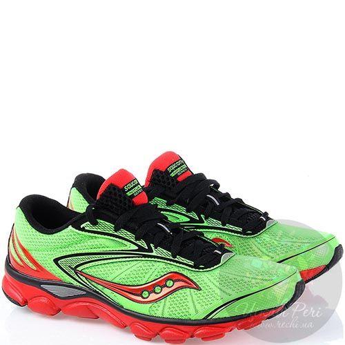 Легкие беговые мужские кроссовки Saucony Virrata 2 красные с зеленым, фото