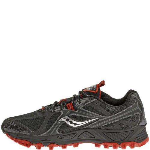 Беговые кроссовки Saucony XODUS 5,0 GTX черные с красным, фото