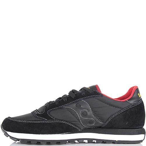 Мужские кроссовки Saucony Jazz Original черные с красным, фото