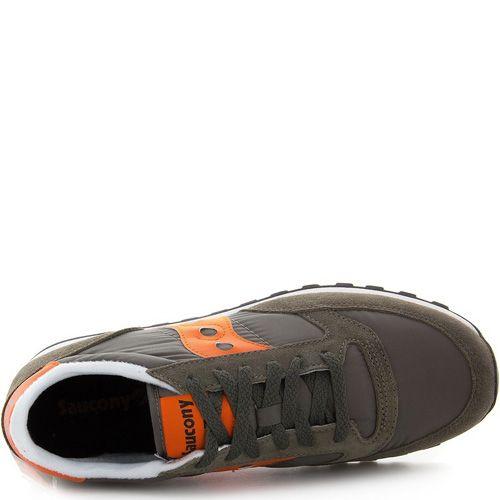 Мужские кроссовки Saucony Jazz Original цвета хаки с оранжевым, фото