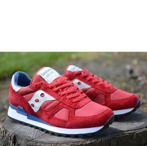 Мужские кроссовки Saucony Shadow Original красные с синим, фото