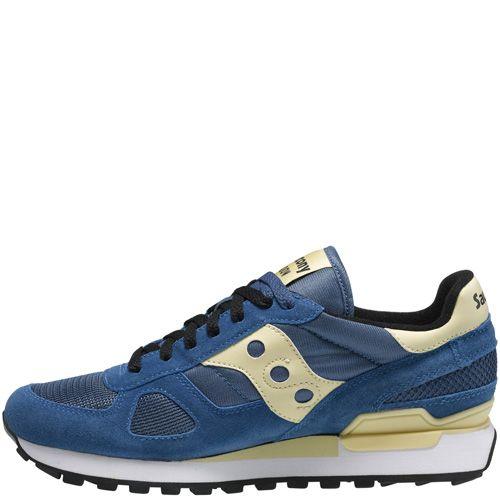 Мужские кроссовки Saucony Shadow Original синие с кремовым, фото