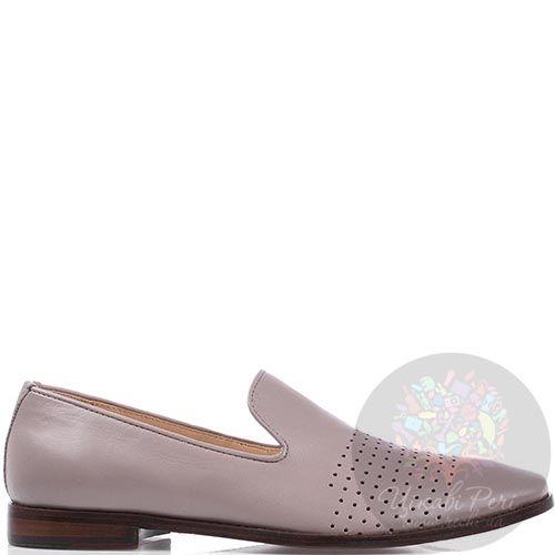 Мужские туфли Modus Vivendi из кожи бежевого цвета на коричневой подошве, фото