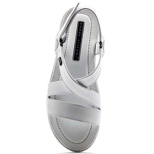 Мужские сандалии Modus Vivendi из натуральной кожи белого цвета, фото