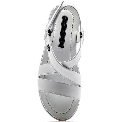 Сандалии Modus Vivendi белого цвета кожаные, фото