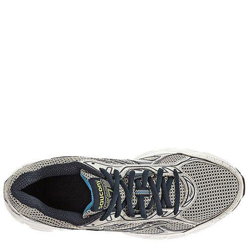 Мужские беговые кроссовки Saucony Cohesion 7 серебристо-черные с голубым, фото
