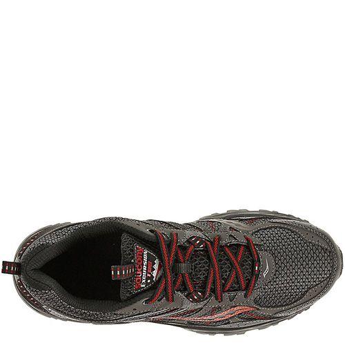 Мужские беговые кроссовки Saucony Excursion TR8 серо-черные с красным, фото