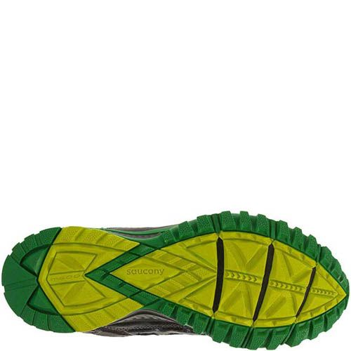 Кроссовки Saucony Grid Excursion Tr9 Black Green Citron мужские, фото
