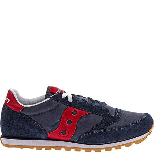 Кроссовки Saucony Jazz Low Pro Navy Red синие с красным, фото