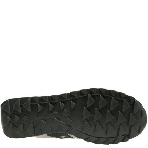 Мужские кроссовки Saucony Jazz Low Pro Vegan светло-серые с темно-зеленым, фото