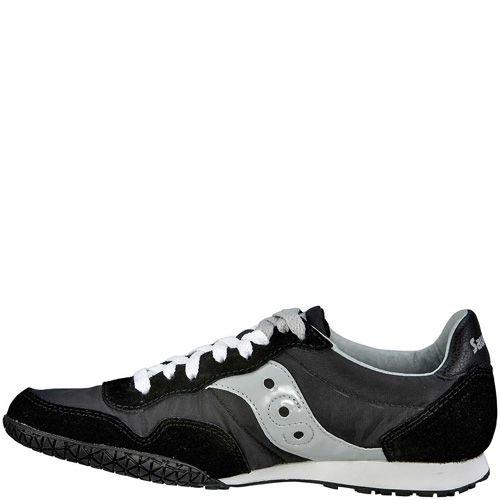 Мужские кроссовки Saucony Bullet черные с серебристо-серым, фото