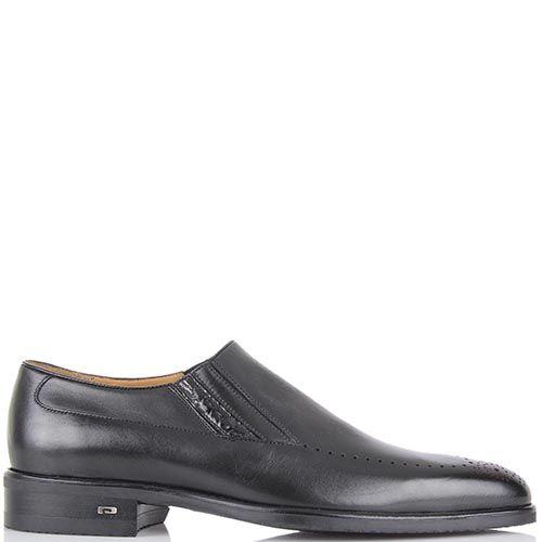 Кожаные туфли Pakerson черного цвета с перфорацией, фото