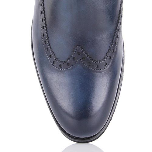 Мужские ботинки на меху Pakerson приглушенно-синего цвета, фото