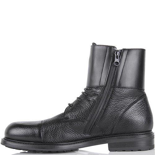 Зимние ботинки Pakerson черного цвета с накидной застежкой на пряжках, фото