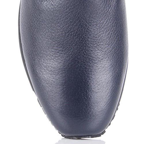 Кожаные утепленные ботинки Pakerson синего цвета, фото