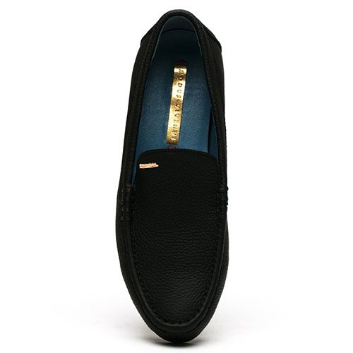 Мокасины Modus Vivendi из мягкой кожи черного цвета, фото