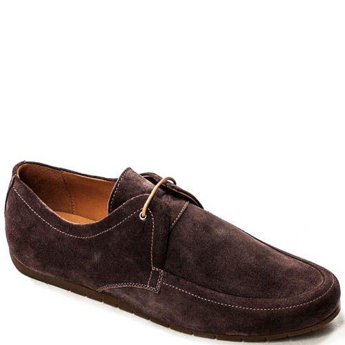 Туфли-мокасины Modus Vivendi из нубука коричневого цвета, фото