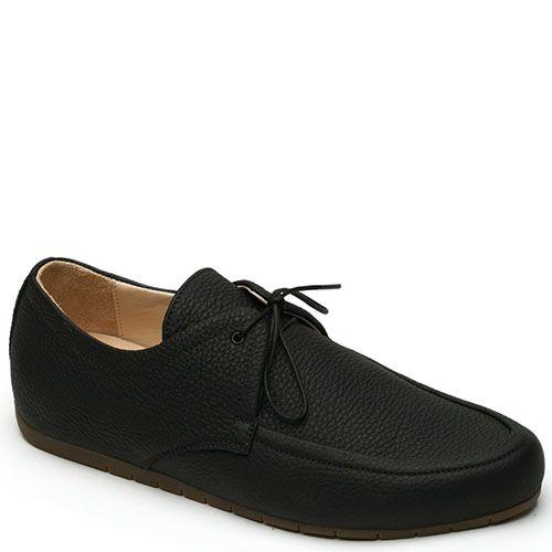 Мокасины Modus Vivendi из мягкой кожи на шнурках черного цвета, фото