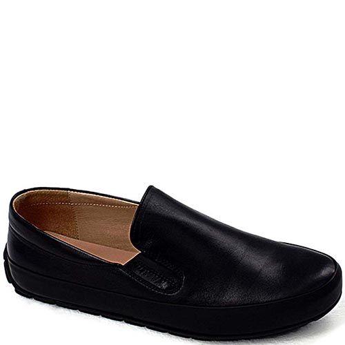 Мужские мокасины Modus Vivendi из мягкой черной кожи, фото