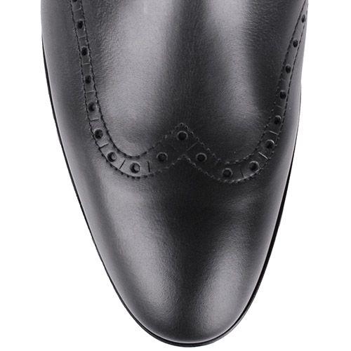 Ботинки Calvin Klein черного цвета со вставкой из полированной кожи на пятке, фото