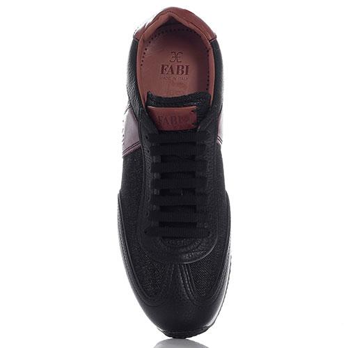 Черные кроссовки FABI с кожаными вставками, фото