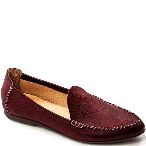 Кожаные мужские лоферы Modus Vivendi бордово-коричневого цвета, фото
