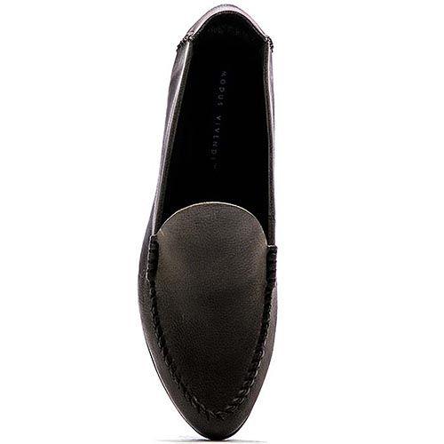 Кожаные лоферы Modus Vivendi глубокого серого цвета, фото