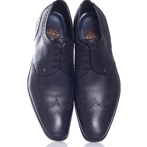 Черные туфли-броги Aldo Brue с вытянутым носком, фото