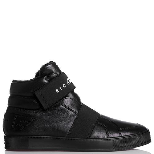 Черные ботинки John Richmond на липучке, фото