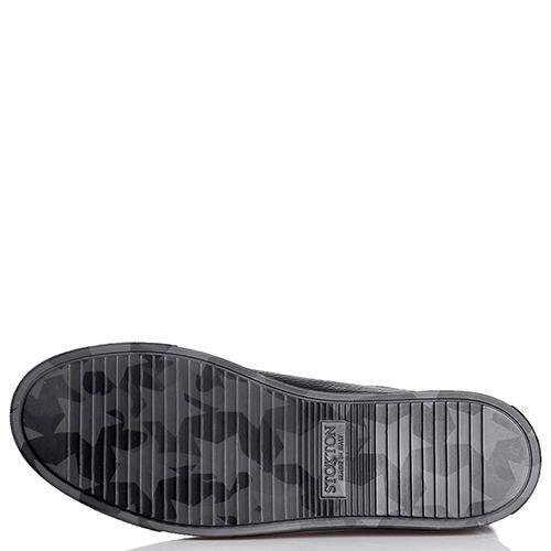 Черные кеды Stokton с принтом на подошве, фото