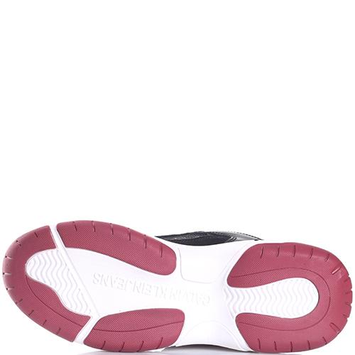 Кроссовки Calvin Klein на белой подошве с красными вставками, фото