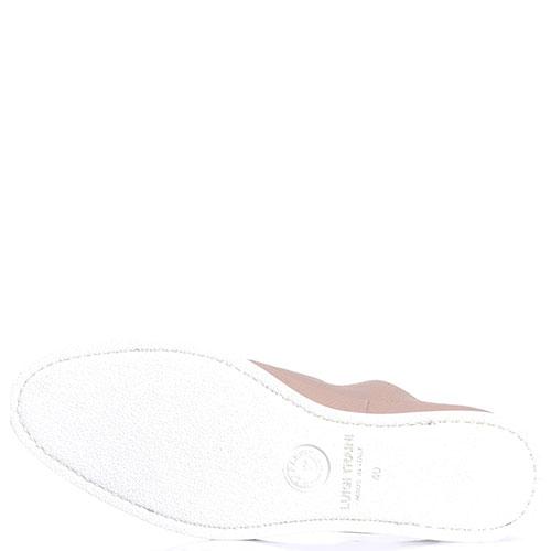 Бежевые туфли Luigi Traini из зернистой кожи, фото