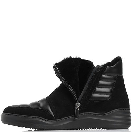 Замшевые ботинки Giovanni Conti с металлическим декором, фото