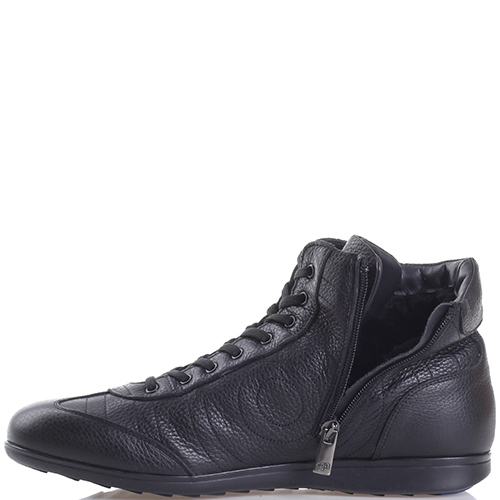 Ботинки Dino Bigioni из черной зернистой кожи, фото
