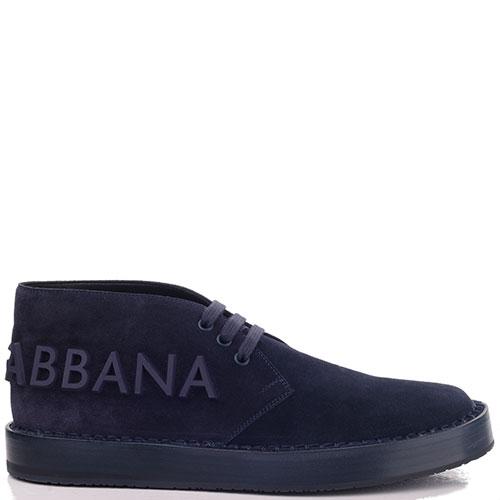Замшевые туфли Dolce&Gabbana с логотипом, фото