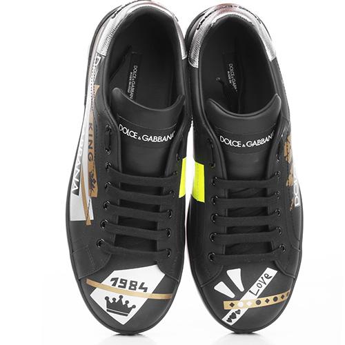 Черные кеды Dolce&Gabbana с логотипом, фото