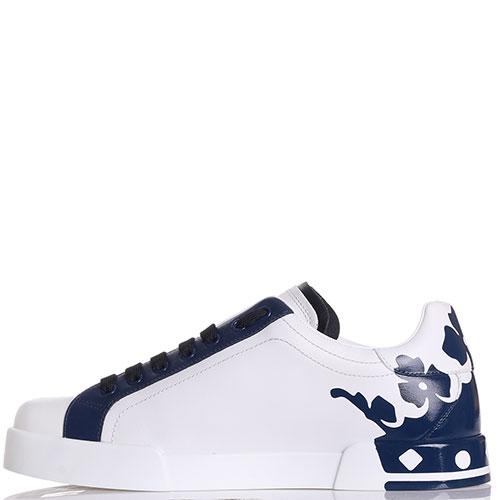 Кеды Dolce&Gabbana белые с синим, фото